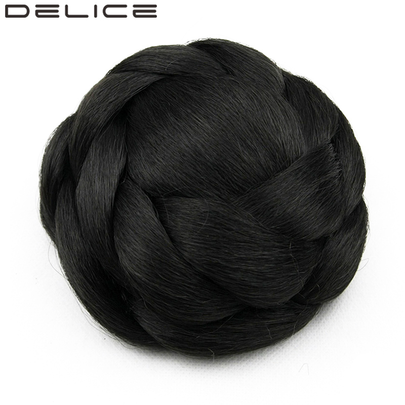 DELICE 80g piece Women s Clip In High Temperature Fiber Braided Synthetic Color Black Hair