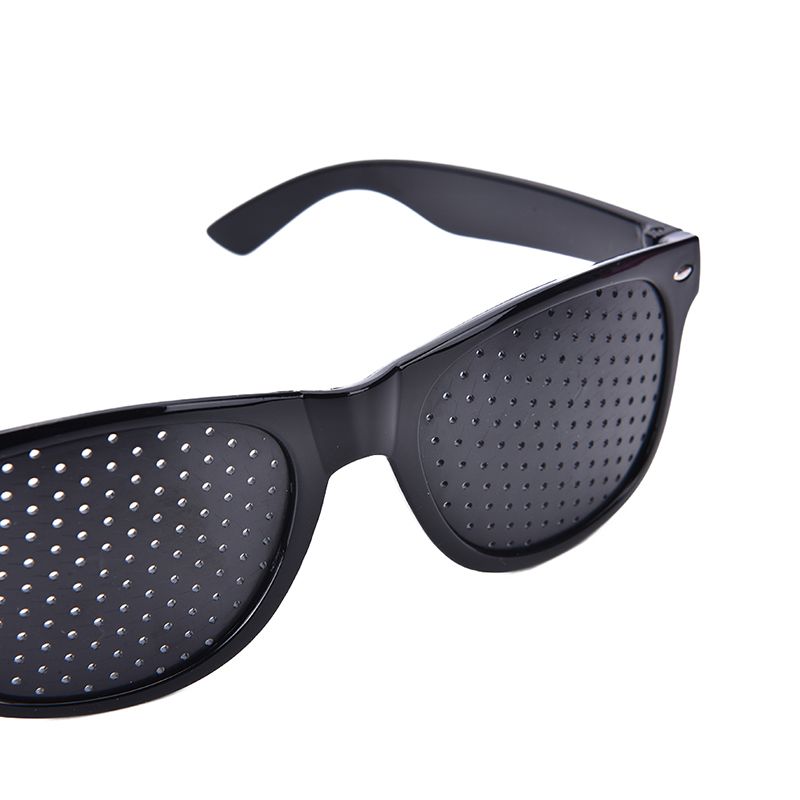 b8d9f8a179 Black Sunglasses Anti-fatigue Vision Care Pin Hole Microporous Glasses Eye  Exercise Eyesight Improve Anti