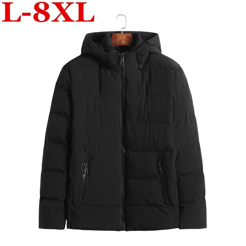Plus Size  8XL 7XL  6XL 5XL Parkas Men 2018 New Arrival Winter Casual Slim Warm Thick Fashion Hooded Coat Outerwear High Quality