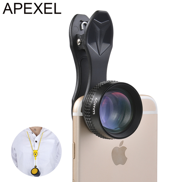 Optic Pro Lens, 2X HD Telephoto Phone Camera Lens,No Distortion, No Dark Circle for iPhone 5S 6S Xiaomi redmi note3 Samsung 60MM