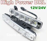 Free Shipping 2013 NEW High Quality 5050SMD LED Daytime Running Light 100 Waterproof E4 White Light
