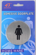 10Pcs/lot Toilet Entrance Women Sign Decal Vinyl Sticker For Shop Office Home Cafe Hotel FREE SHIPPING 341