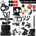 Gopro accessories set Gopro hero 5 waterproof protective case chest mount Monopod for gopro hero 5 tripod for go pro HERO 5 GS49