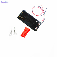 100Pcs 2xAAA Battery Case Holder Socket Wire Junction Boxes With 15cm Wires, JST 2.54 Male Header and Crimps