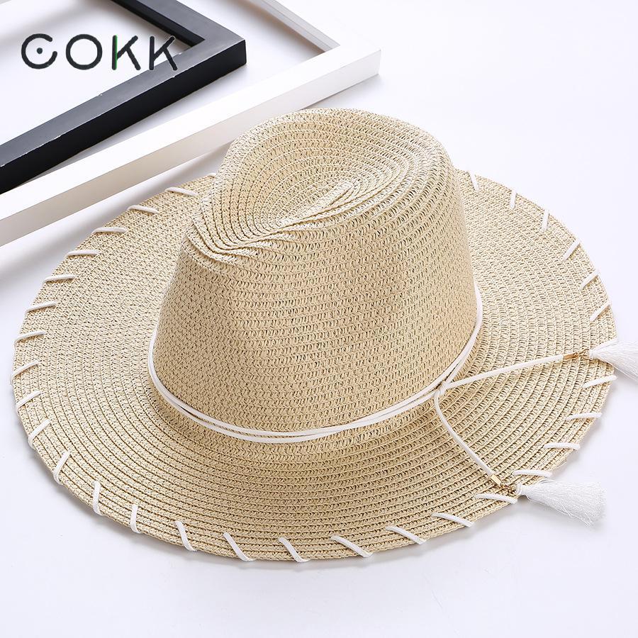 3e63f8b3b62 2018 Womens Sun Hat Big Bow Wide Brim Floppy Summer Hats For Women Beach  Panama Straw Bucket Hat Sun Protection Visor Femme Cap
