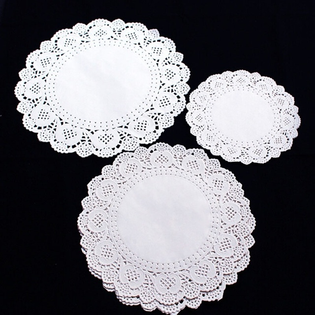 1 Set36 Pcs Include 3 Size Round Lace Paper Doilies Craft Cup