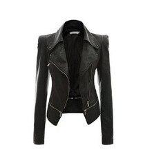 2017 New Autumn Fashion Turn Down Collar Women Leather Jackets Winter Coats Deri Ceket Motorcycle Jacket Biker S075
