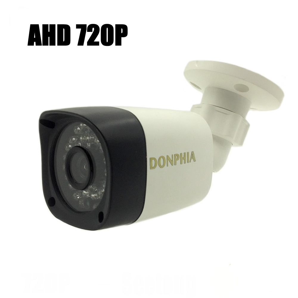 DONPHIA 720P AHD CCTV Camera Outdoor 1MP H42 CMOS Sensor Waterproof IR Night Vision Work with AHD DVR Surveillance Security 4 in 1 ir high speed dome camera ahd tvi cvi cvbs 1080p output ir night vision 150m ptz dome camera with wiper