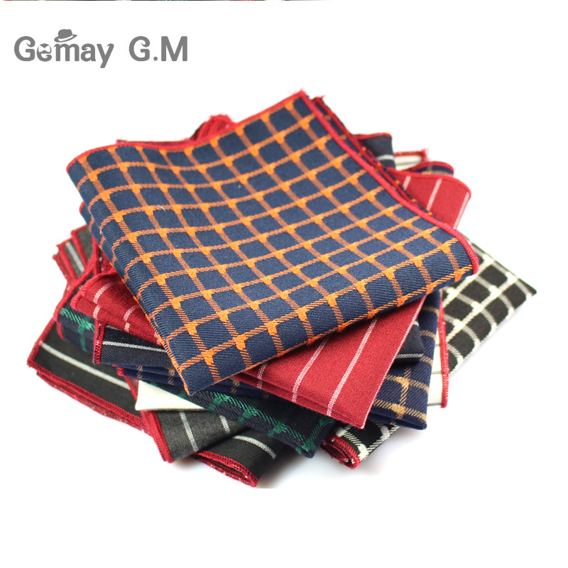Men Suits Polyester Designer Handkerchiefs Fashion Woven Pocket Square Hankies Business Casual Square Pockets Hanky