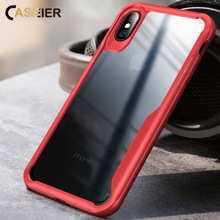 CASEIER Transparent Phone Case For iPhone X XS MAX XR PC TPU Shockproof Cases For iPhone 10 6 6S 7 8 Plus XS MAX XR Cover Funda цена и фото