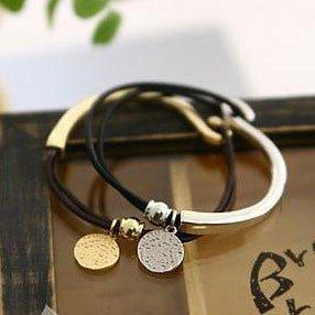 Wholesale-New!Korean hot leather string bracelet personality 30pcs/lot Free shipping