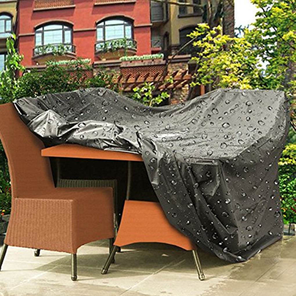 Woodside Heavy Duty Waterproof Rattan Cube Outdoor Garden Furniture Rain Cover,