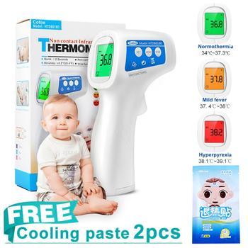Cofoe Médica Infravermelho Testa Termômetro Digital Crianças Termômetro de Temperatura Do Corpo e Objeto Não-contato Portátil para o Bebê