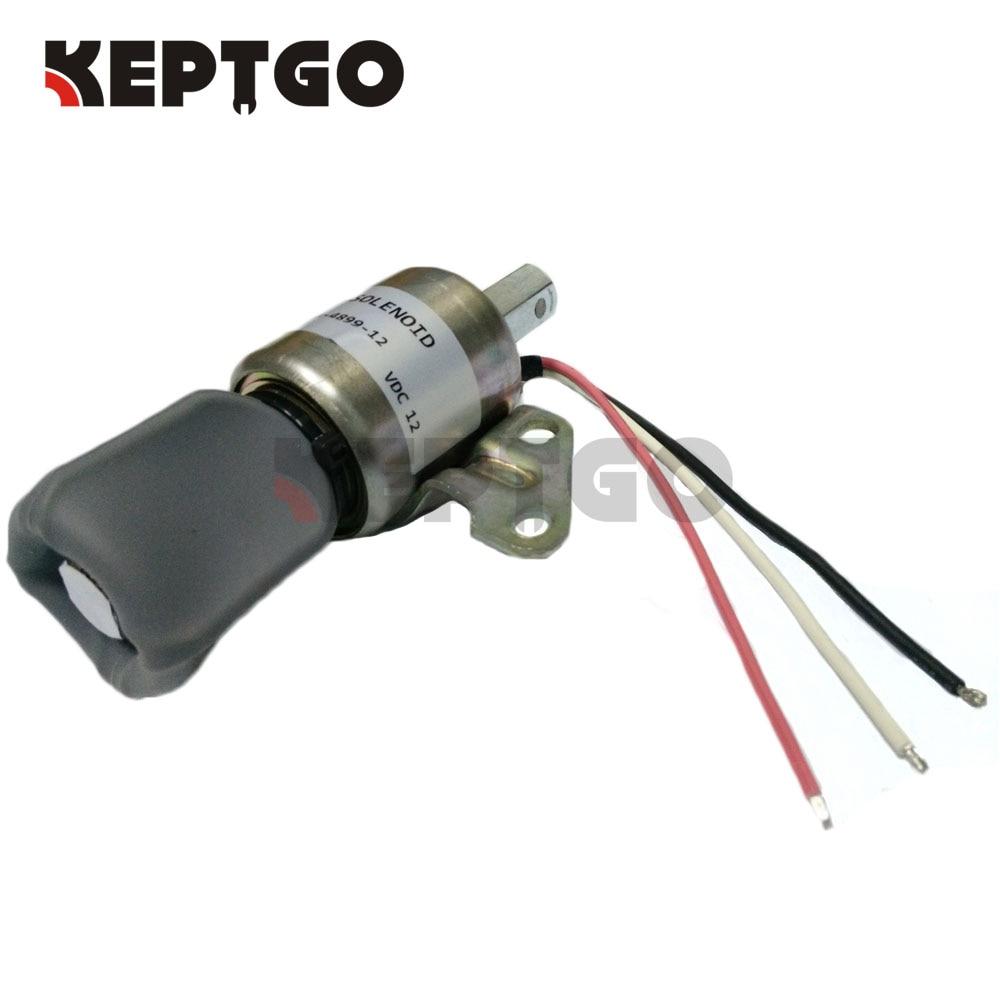 SA-4899-12, 1756ES-12SULB1S5, 17520-60012,17520-60013, 12V Fuel Shutoff Solenoid For Kubota D722 Z482 D902