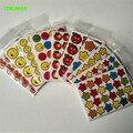 HAPPYXUAN 40 hojas/lot 9*12.5 cm de Papel Mini Pegatinas cara de la Sonrisa de Pulgares Estrellas Maestros Recompensa Etiqueta