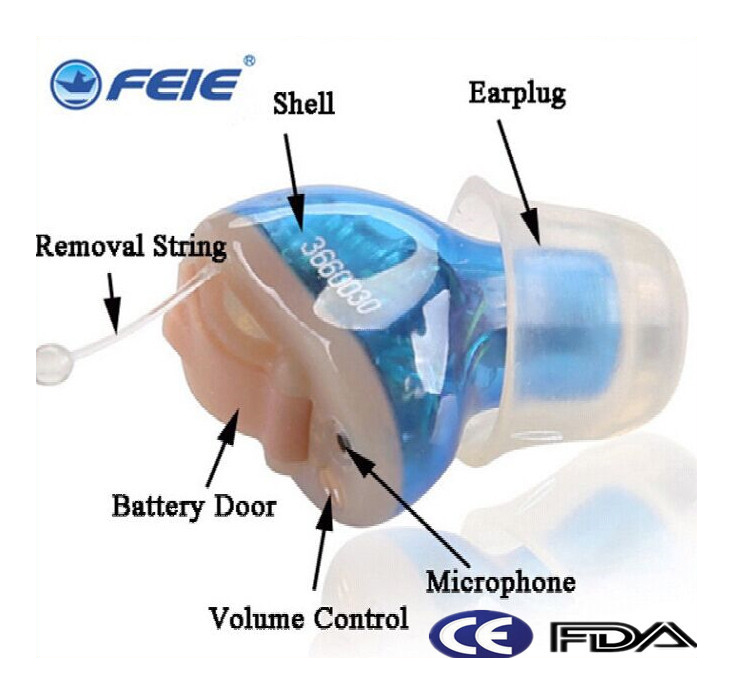 Feie mini hearing aid invisible hearing 4 channels digital ready to wear hearing aids cic Free Shipping S-12A