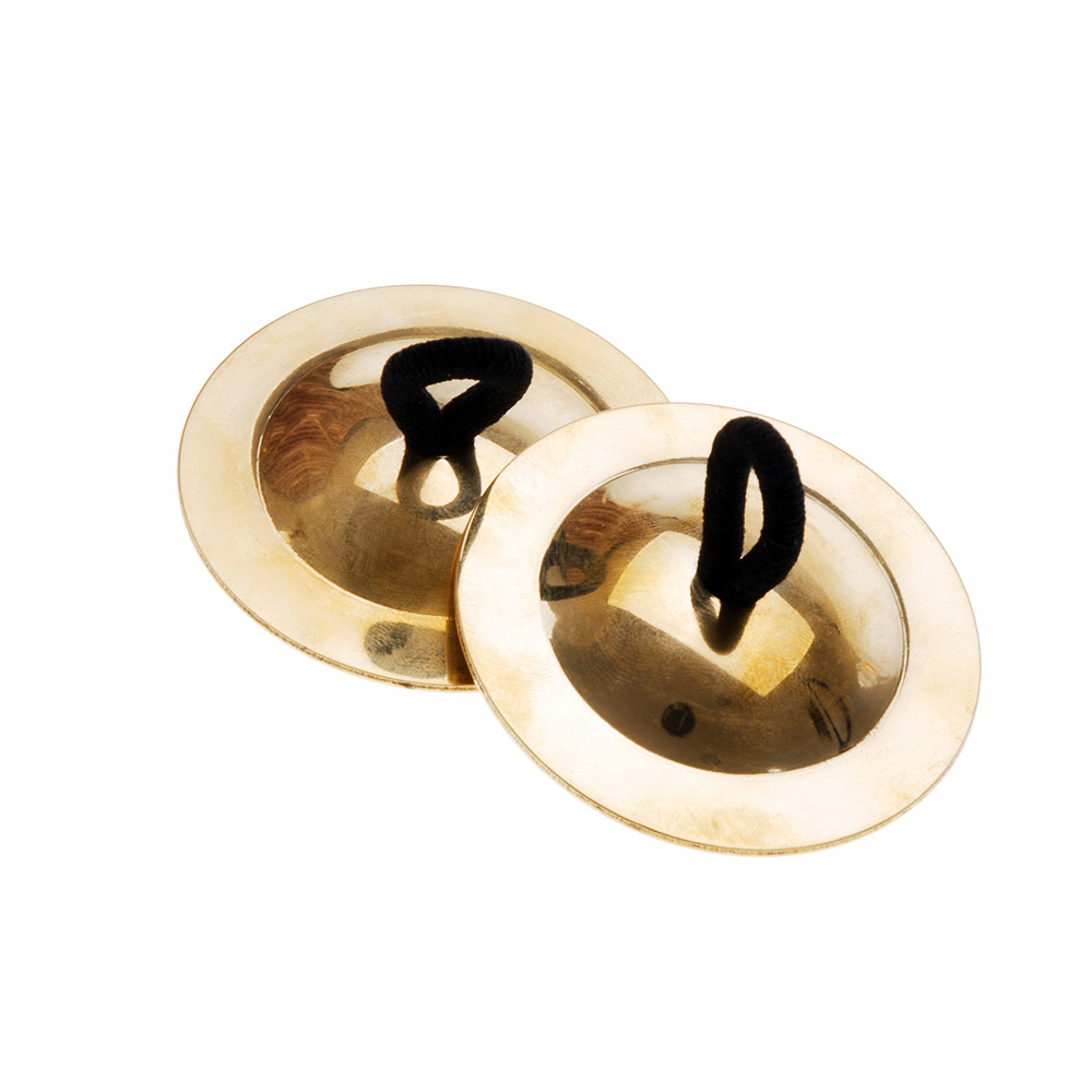 2x Percussion Musical Instrument Belly Dancing Finger Cymbals Christmas Toys