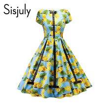 Sisjuly 1950s vintage font b dresses b font women plant color block patchwork print bowknot o