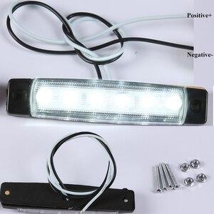 Image 2 - 10 PCS AOHEWEI 12 V LEVOU front side marcador luz branca indicador de posição da lâmpada com refletor para reboque do caminhão camião RV