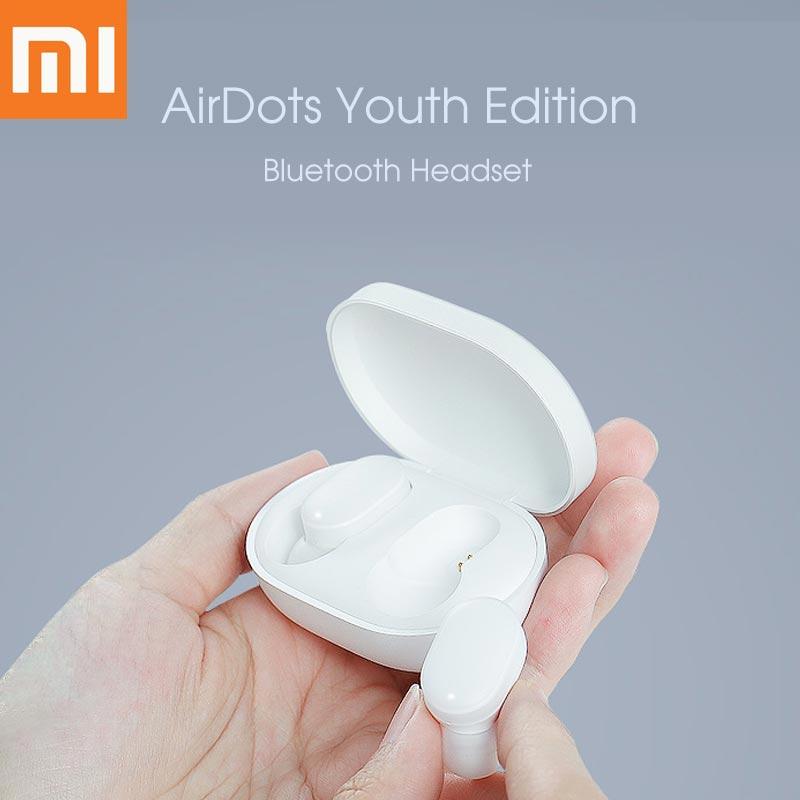Écouteurs d'origine Xiao mi Version jeunesse mi AirDots TWS Bluetooth écouteurs intra-auriculaires sans fil avec mi c et Dock de charge