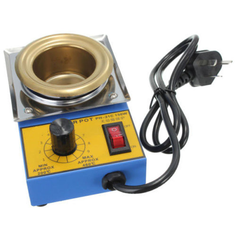 Image 2 - Temperature Controlled  Solder Pot Soldering Desoldering Bath Tin Melting Plate Tin Cans 50mm 220V 150WElectric Soldering Irons   - AliExpress