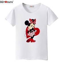 BGtomato T shirt Super lovely cartoon Mickey tshirt hot sale cute cartoon top tees Brand new comfortable casual t-shirt women