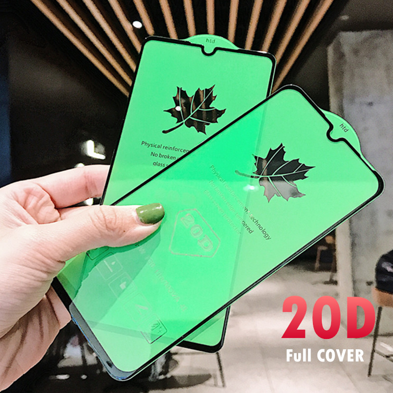 20D Curved Tempered Glass For Samsung Galaxy A30 A50 A10 A7 J4 J6 2018 A730F Screen Protector On For Samsung M10 M20 M30 Glass