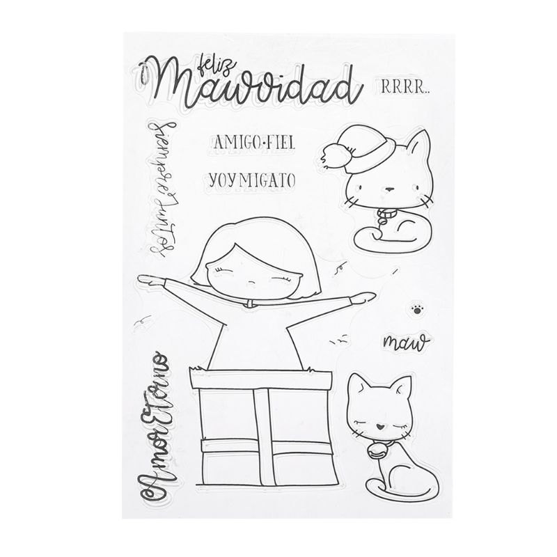 Hot Sales Scrapbook Paper Stamps Craft Cat Silicone DIY Clear Stamps Scrapbooking for Photo Album Paper Card Art Crafts Decor