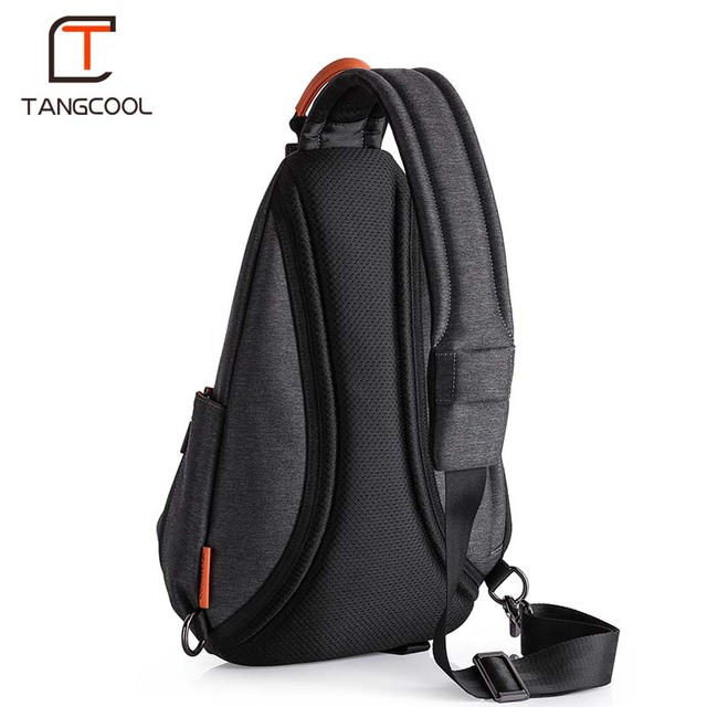 Tangcool Men Casual USB Charging Messenger Bag Fashion Men Shoulder Travel Chest Bag Pack Anti Theft Crossbody bags 3