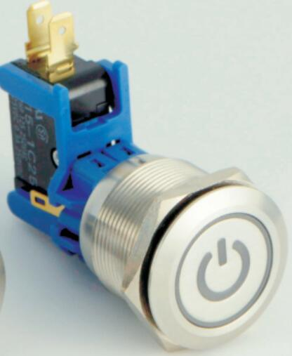 ELEWIND 25mm 15A big current Metal push button switch with light(PM251-LC-11ET/S, UL approval )