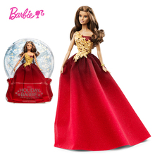 Barbie Original Brand Dolls Holiday Ethnic Collectible Doll Princess Toy Girl Birthday Present Girl Toys Gift Reborn Boneca original barbie brand hello kitty doll girl collector s edition best birthday toy girl birthday present girl toys gift boneca