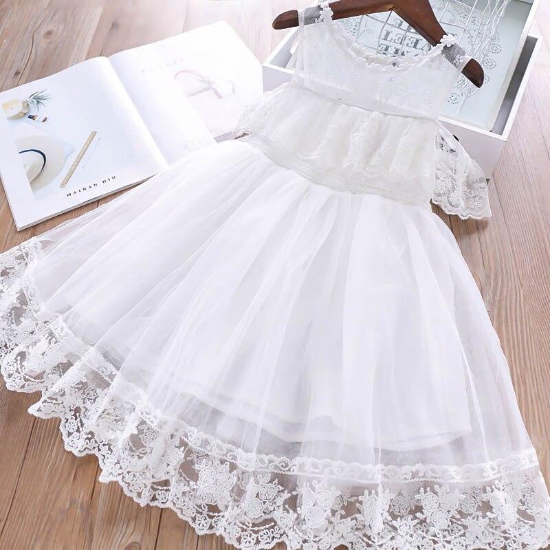 夏の 2019 ガールの花の襟肩王女のベールドレス子供のドレス卸売  グループ上の ママ & キッズ からの ドレス の中 1