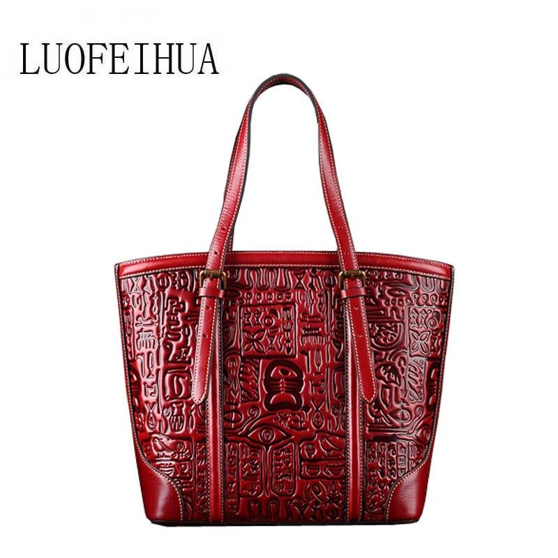 Nouveau Banquet red Gaufré Cuir De Designer Main Luofeihua En 2019 À Haut Sac brown brown Gamme Red UwSHTHf5q