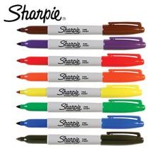 12 قطعة/الوحدة شاربي 31993 علامات دائمة ، صديقة للبيئة غرامة نقطة 1 مللي متر قلم ماركر ، 21 ألوان للاختيار