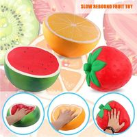 25cm Giant Squishy Strawberry Squeeze Soft Slow Rising Relieves Stress Toy Fruits Squishies Relaxing Billow Toys For Children