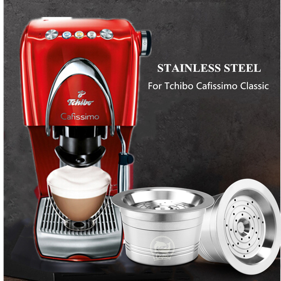 Stainless Steel Cafissimo Classic Refillable Reusable Coffee Capsule Cafeteira Filter For Caffitally Pure/Tchibo Classic Machine