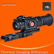 Imaging termico di Visione Notturna A Raggi Infrarossi Vista Dispositivo di Puntamento Monoculare Mirino Mirino CS 7 Termocamera per la Caccia Allaperto