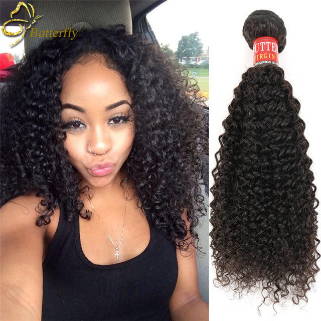 Butterfly Queen Peruvian Kinky Curly Weave Human Hair 3