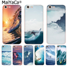 MaiYaCa surf oceano Sea wave surf verão de Luxo High-end Caixa do telefone para Apple iphone 11 pro 8 7 66S Plus X 5S SE XS XR XS MAX(China)