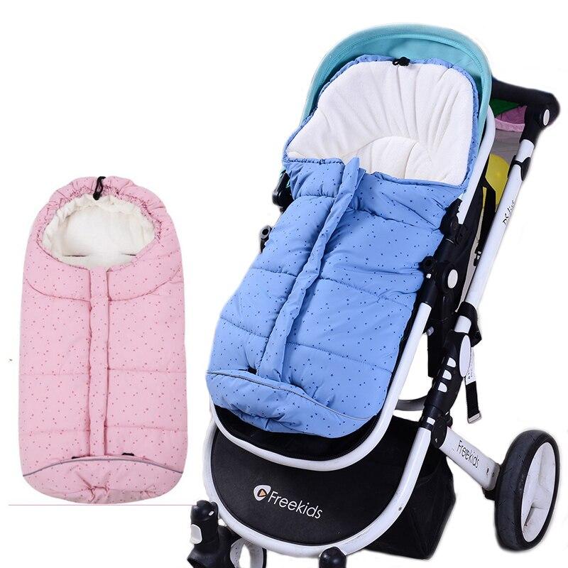 Verdicken Baby Schlafsack Baby Kinderwagen Schlafsack Winter Warme Sleep Robe Für Säuglings rollstuhl umschläge für neugeborene