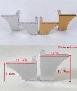 Image 1 - 4 יח\חבילה נירוסטה זהב כרום ריהוט אמבטיה קפה שרפרף בר ספה כיסא רגל רגליים רגליים אירופאי תמציתי