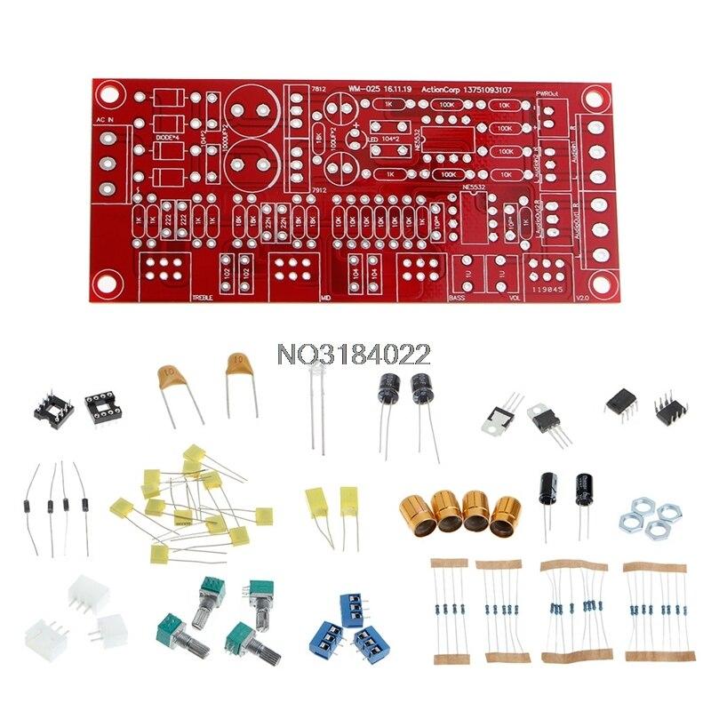 NE5532 AC 12 V OP-AMP HIFI Amplificateur Préamplificateur Volume Tone Contrôle De L'ÉGALISEUR conseil DIY KIT Module Ensemble 10 Fois Ton Conseil Préampli #