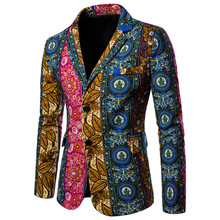 Mens Casual Blazer Clothes New Fashion Male Printed Jacket Slim Suit Jackets Size 4XL Men Office Ceremony Party Wedding