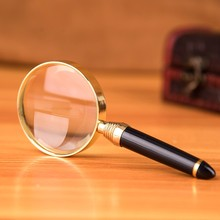 Lupa de vidro portátil de mão 20x, lente de lupa para joias, jornal, livro, ferramentas de leitura