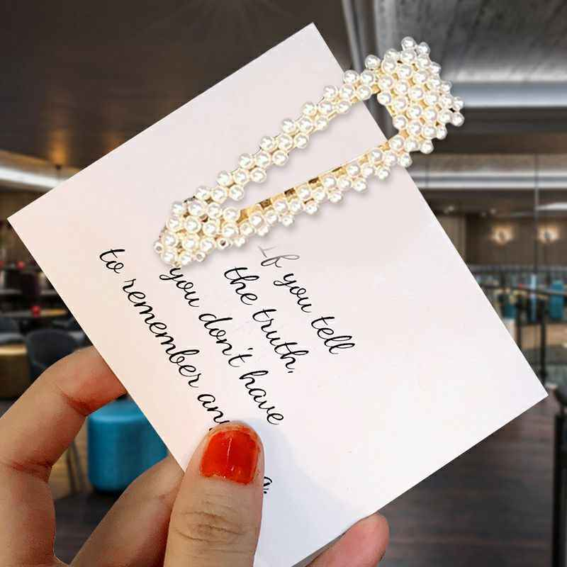 1psc Acrylic Hair Clips Imitation pearl Hair Clip Korea Style Cute Accessories  Candy Color Gift for Friends and girlfriend