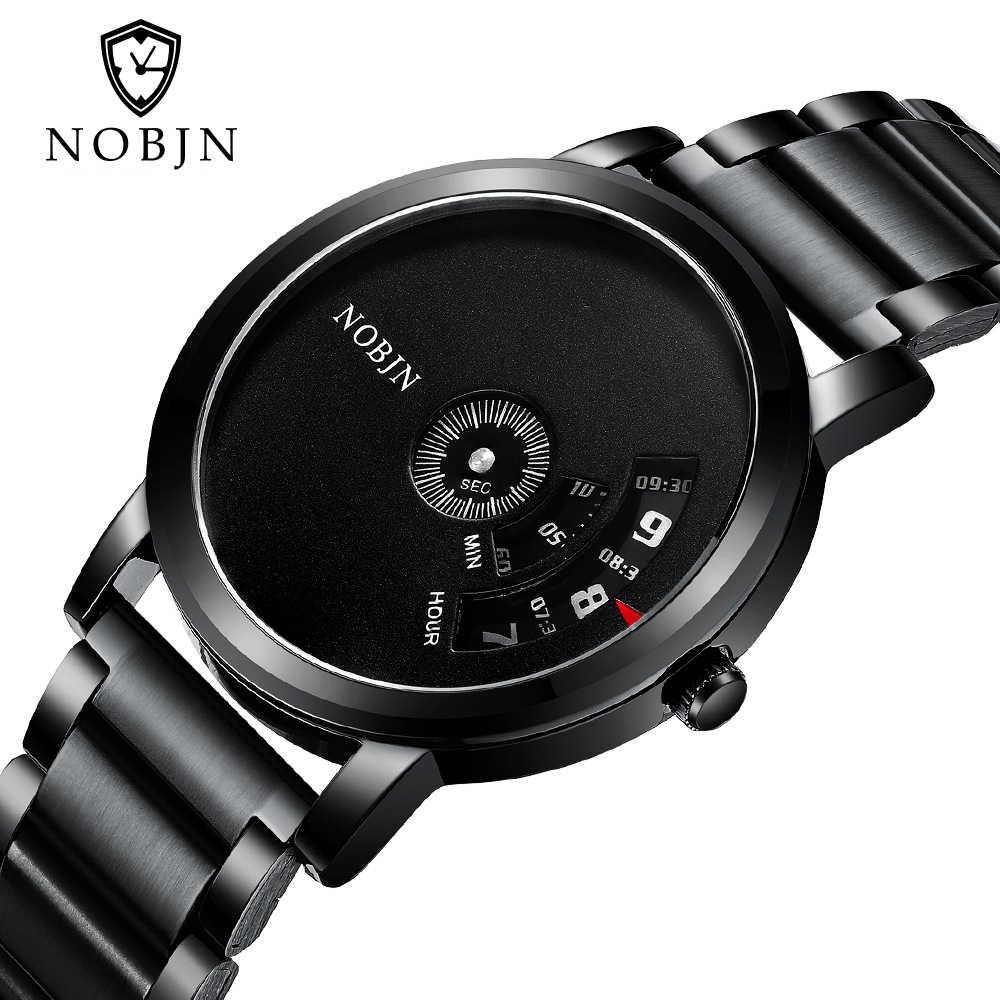 2019 ใหม่ Nobjn Men Quartz นาฬิกาแฟชั่นนาฬิกานาฬิกานาฬิกาธุรกิจ Relogio Masculino สำหรับของขวัญ