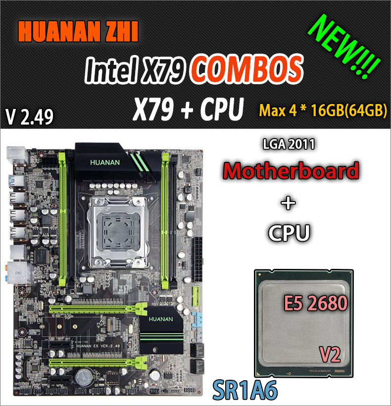 Brand motherboard on sale HUANAN ZHI deluxe X79 motherboard