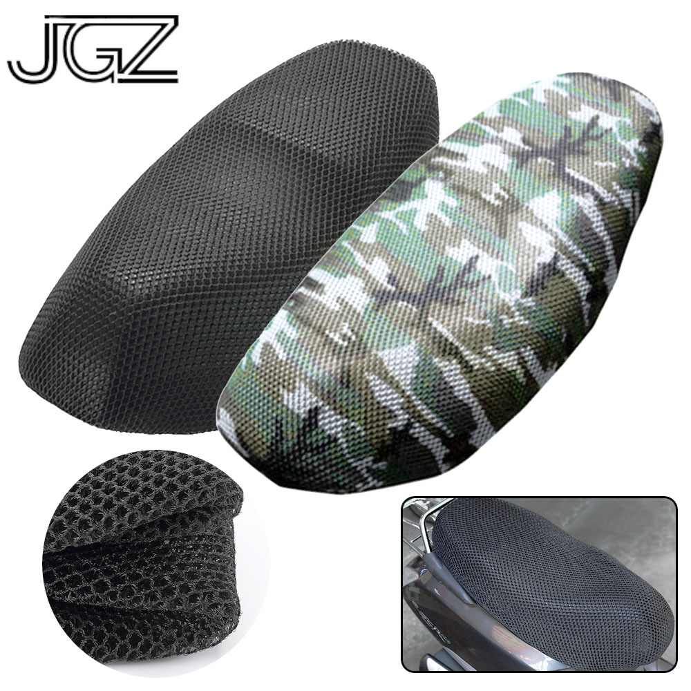 Motorcycle Seat Cover Waterproof Sun Insulation Scooter Seat Cushion Protect Black Camo for Vespa Kawasaki Yamaha Triumph <font><b>Honda</b></font> image