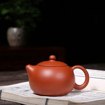 genuine Yixing purple clay pot famous artists pure hand-made raw ore gold Zhuni beauty Xishi pot tea set gifts
