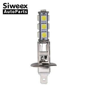 Image 1 - 1 個ビッグプロモーション H1 ハイパワー 13 SMD 5050 LED 電球ホワイト車の自動車ヘッドライトヘッドライトランプ DC 12V